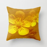FLOWERS - Bonnie Butterc… Throw Pillow