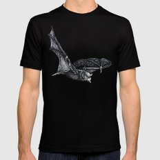 Bat tongue SMALL Black Mens Fitted Tee