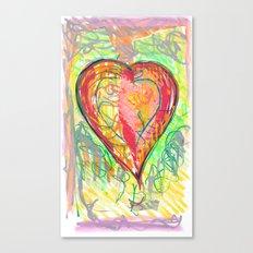 torn heart Canvas Print