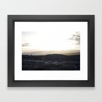 Kalapana Lava Flow Framed Art Print