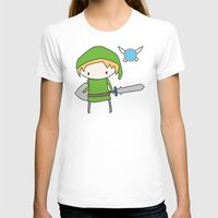 Link - The Legend of Zelda Womens Fitted Tee White SMALL