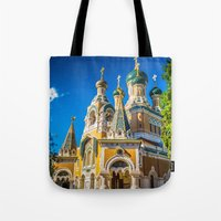 Russian Orthodox Cathedral, Nice France Tote Bag