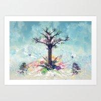Saint-Tree Art Print