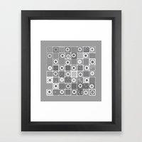 Black Dot Design Framed Art Print