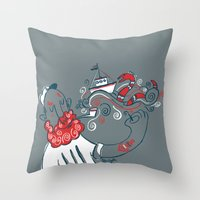 The Telling Sailor Throw Pillow