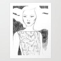 White Pollen Art Print