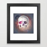 Astral Skull Framed Art Print