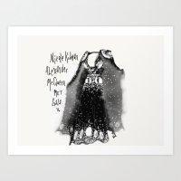 Fashion Dress Illustration Art Print