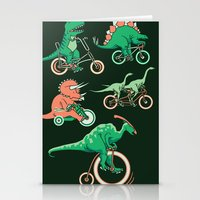 Dinosaurs on Bikes! Stationery Cards
