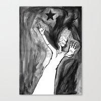 Lazarus 3 - Bowie Blacks… Canvas Print