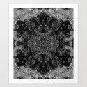 River Foam Snowflake Art Print
