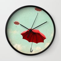 rising into the blue Wall Clock