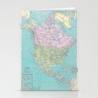 Vintage North America Ma… Stationery Cards