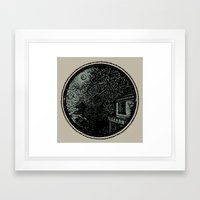 Miniature Circle Landsca… Framed Art Print