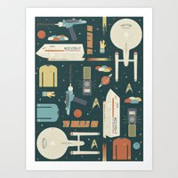 To Boldly Go... Art Print