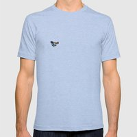 orange Mens Fitted Tee Athletic Blue SMALL