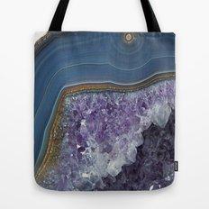Amethyst Geode Agate Tote Bag
