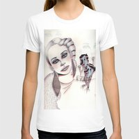 3D Nightmare Womens Fitted Tee White SMALL