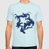 Orcas Mens Fitted Tee Light Blue SMALL