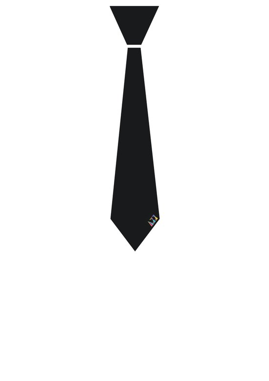 Initial Tie Art Print