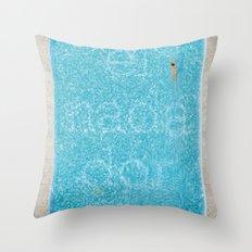 El Nadador Throw Pillow