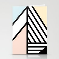 Abstract Angles Stationery Cards