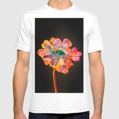 Psychedelic Floral Dew Mens Fitted Tee White SMALL