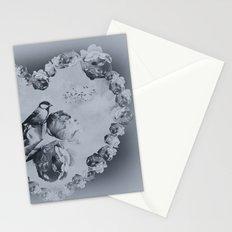 Blue Bird Heart Stationery Cards