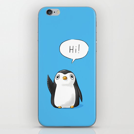 Hi Penguin iPhone & iPod Skin