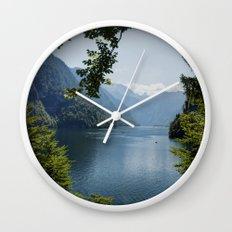Germany, Malerblick, Koenigssee Lake Wall Clock