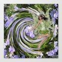 Green Flower fairy Canvas Print