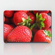 Abstract Strawberry Art iPad Case