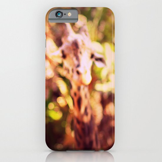 abstract with two giraffes iPhone & iPod Case