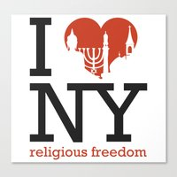 Luv New York Religious Freedom Canvas Print