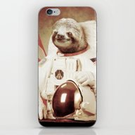 iPhone & iPod Skin featuring Sloth Astronaut by Bakus