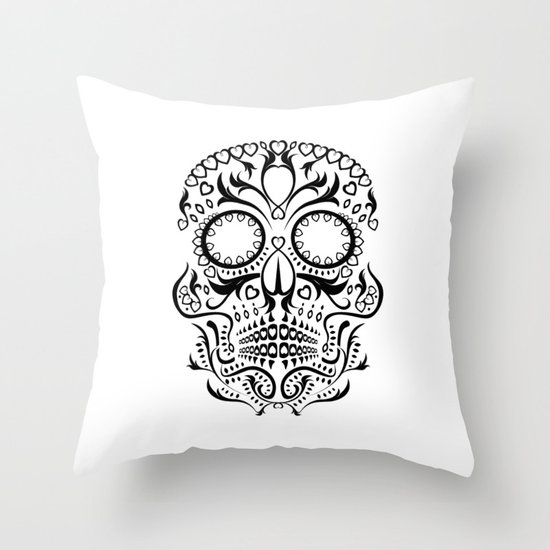 Day of the Dead Skull No.26 Throw Pillow