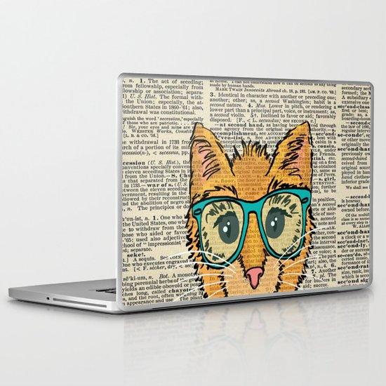 Orange Kitty Cat Laptop & iPad Skin