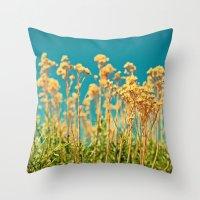 Blue & Gold & Green Throw Pillow