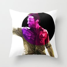 Rick from the walking dead Throw Pillow