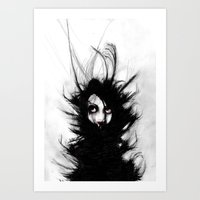 Coiling And Wrestling. D… Art Print