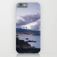 Volcanic coastline and lights of Santa Cruz at twilight. La Palma, Canary Islands. iPhone 6 Slim Case