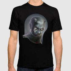 Demonoid Girl Portrait SMALL Mens Fitted Tee Black