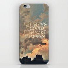 cloudbusting iPhone & iPod Skin