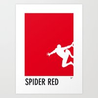 My Superhero 04 SpiderRe… Art Print