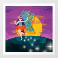 My first fairy  Art Print