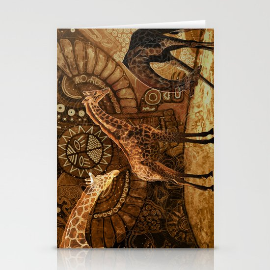 Three Giraffes Stationery Card