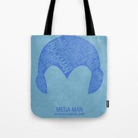 Mega Man Typography Tote Bag