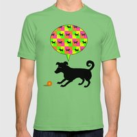 Puppy Play! Mens Fitted Tee Grass SMALL