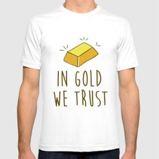In Gold we trust! Mens Fitted Tee SMALL White