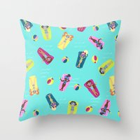Pool Party Throw Pillow